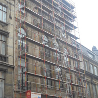 Echafaudage Rue du Lombard ( Grand Place de Bruxelles)